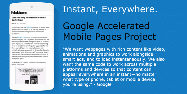 Google Accelerated Mobile Pages Project Blog