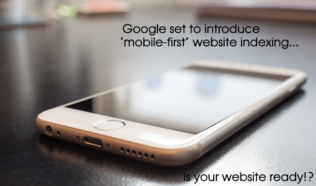 Google set to introduce mobile first website indexing banner
