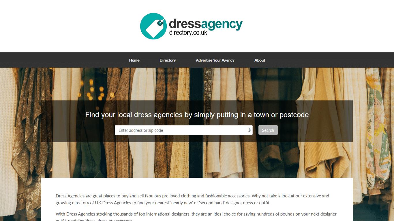 Dress Agency Directory - WordPress Website