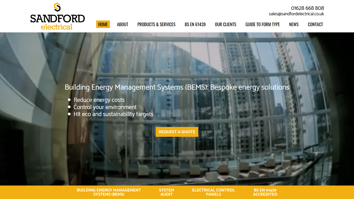 Sandford Electrical Website