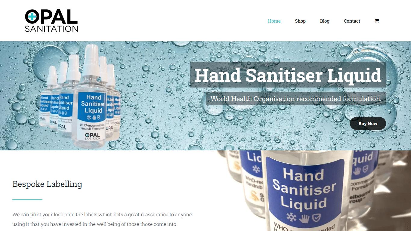 Opal Sanitation Responsive Website